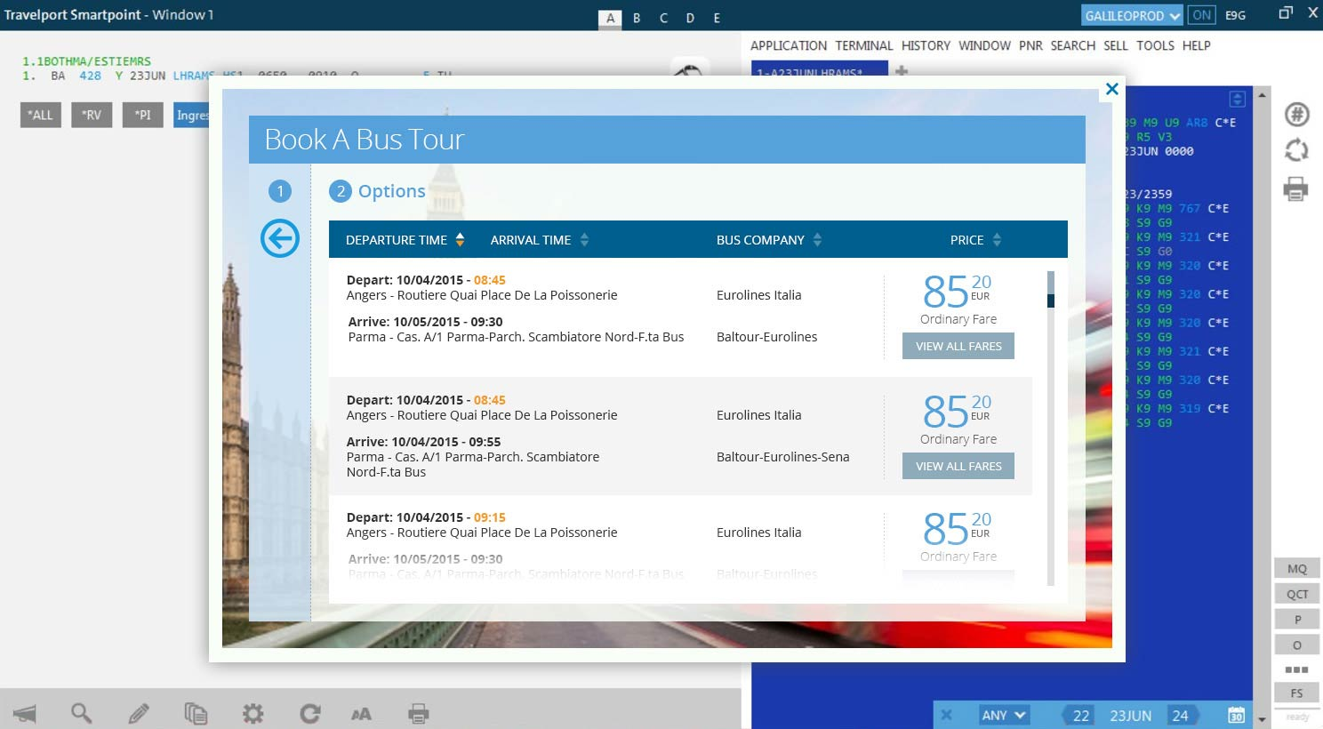 Bus Tour Booking - Choose Fare Type